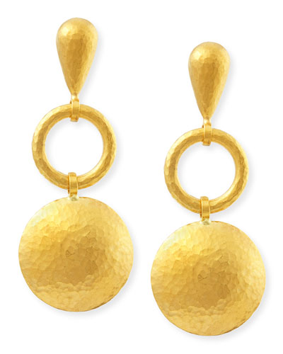 Long Lentil Drop Spell Earrings