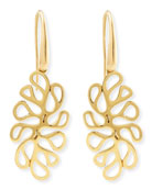 Sealeaf Collection 18k Yellow Gold Earrings