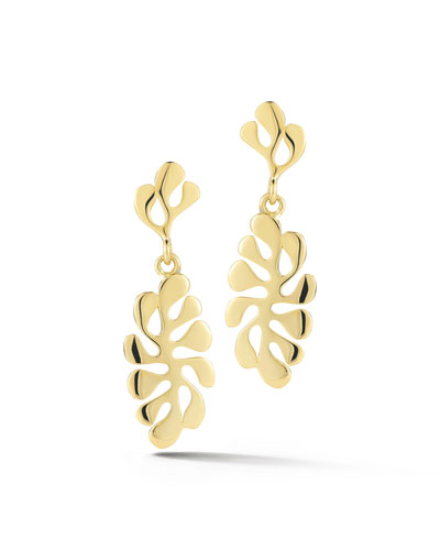 Sealeaf Small 18k Gold Drop Earrings