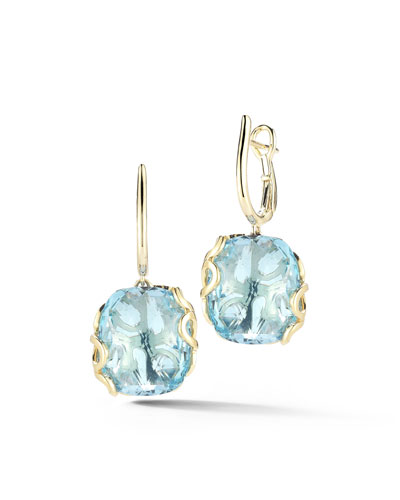 Sealeaf Collection Blue Topaz Earrings
