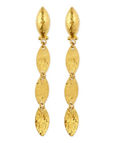 Willow 24k Gold Triple-Drop Earrings