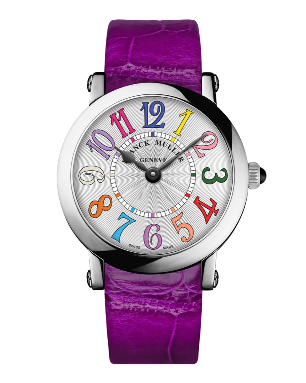 FRANCK MULLER Ladies Color Dreams Ronde Watch With Alligator Strap