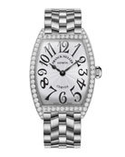 Ladies Curves Stainless Steel Diamond Watch