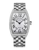 Ladies Curves Stainless Steel Diamond Watch