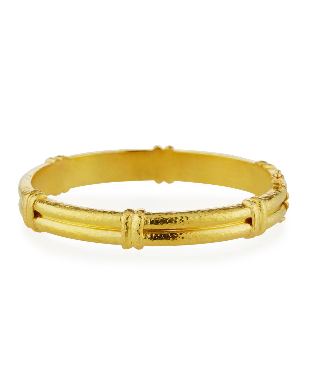 19k Gold Banded Bangle Bracelet