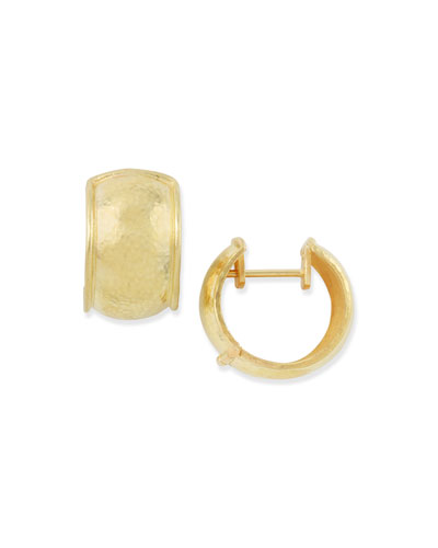 19k Gold Curved Hoop Earrings