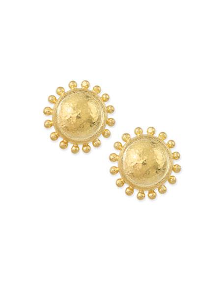 Elizabeth Locke Granulated Dome Stud Earrings