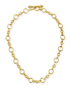"Siena Gold 19k Link Necklace, 17""L"