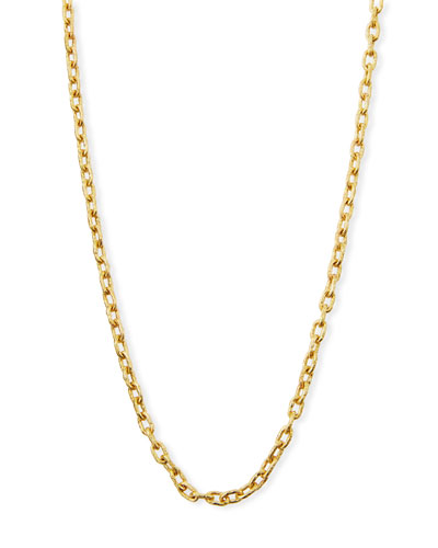 19k Gold Link Necklace, 35