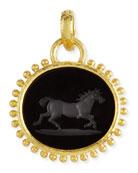 Onyx Running Horse Pendant
