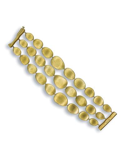 Lunaria 18k Triple-Row Bracelet