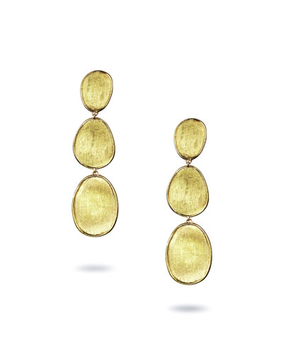 Lunaria 18k Triple-Drop Earrings