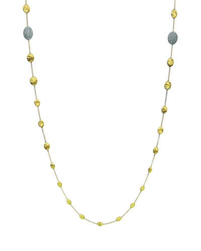 Siviglia Diamond Station Necklace, 36