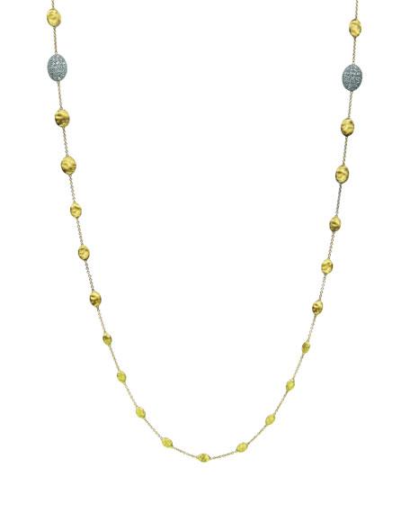 """Marco Bicego Siviglia Diamond Station Necklace, 36""""L"""