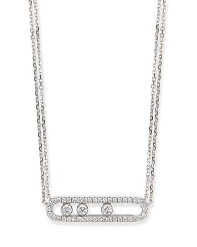 18k Sliding Diamond Pendant Necklace