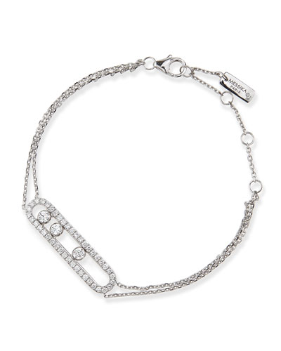 18k Sliding Diamond Bracelet