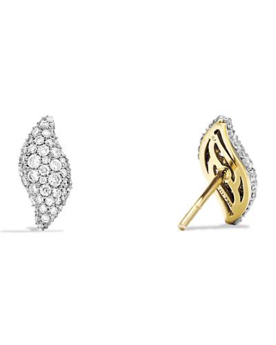 Hampton Earrings with Diamonds in Gold