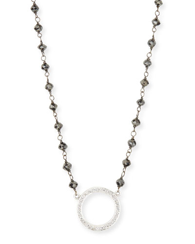 RINA LIMOR Twilight Open-Circle Diamond Pendant Necklace