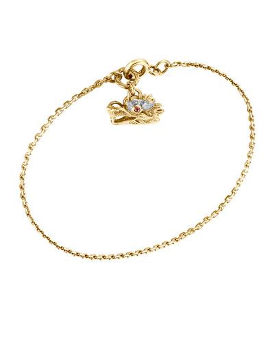 Naga 18k Dragon Charm Bracelet, Medium
