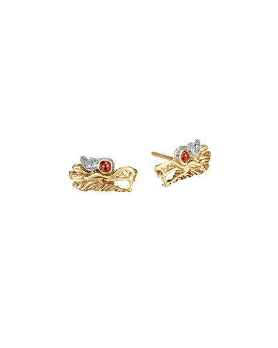 Batu Naga 18k Gold Extra-Small Dragon Stud Earrings