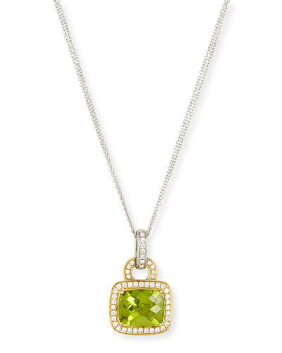 Roma Peridot & Diamond Pendant Necklace