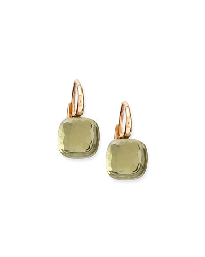 Nudo Prasiolite Medium Drop Earrings
