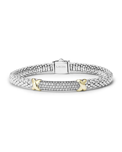 Caviar Diamond Lux Bracelet, 6mm