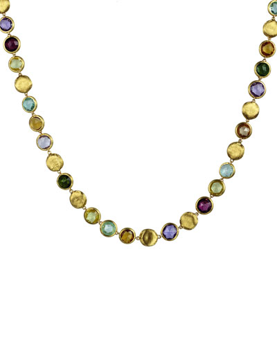 Jaipur Mixed-Stone Link Necklace, 19