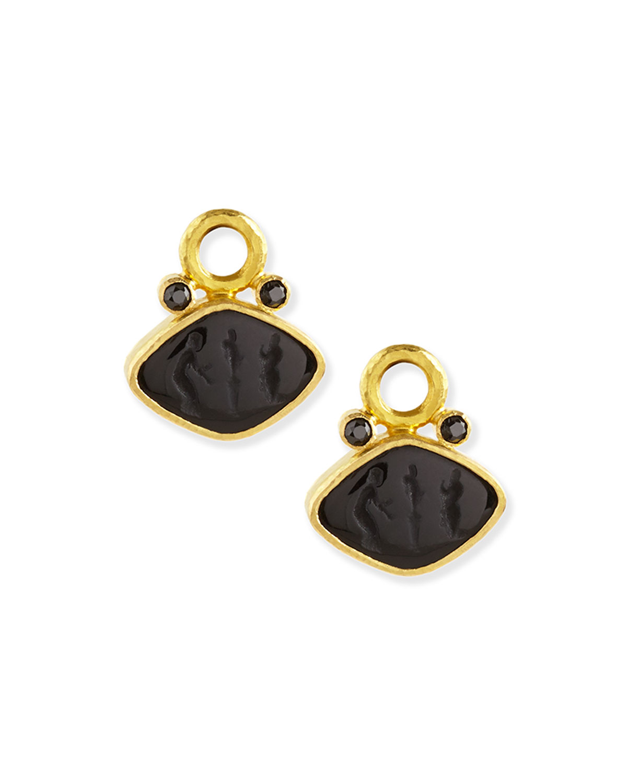 Rombo Intaglio Earring Pendants
