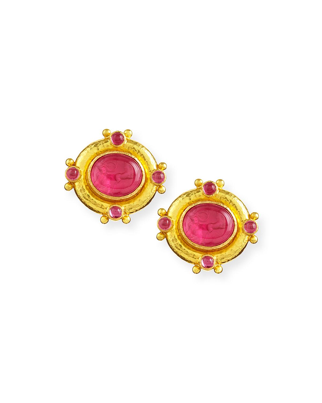 Quadriga Intaglio Clip/Post Earrings