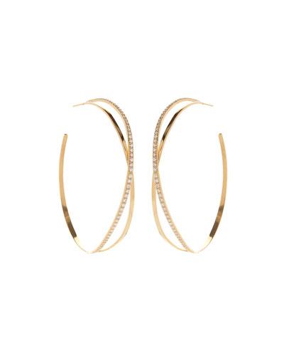 Flawless Vol. 2 Crossover Diamond Hoop Earrings