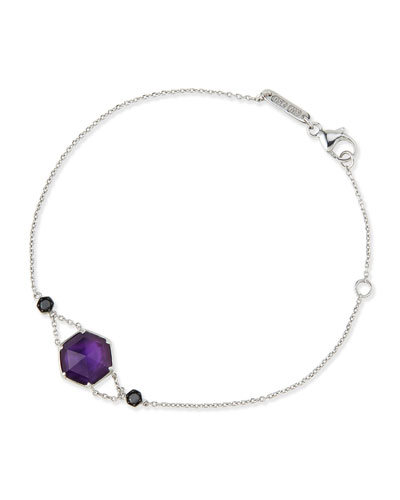 Deco Haze Amethyst & Black Diamond Bracelet