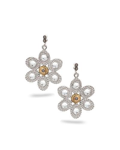 Opera Crystal & Diamond Flower Earrings