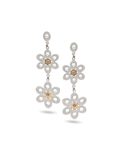 Opera Double-Flower Drop Earrings