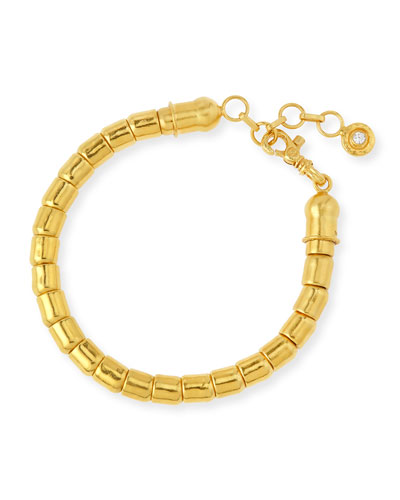 Vertigo 24k Gold Single-Strand Bracelet