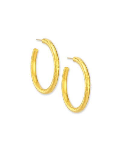 Skittle Collection 24k Hoop Earrings