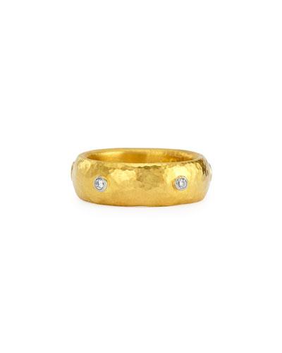 Celestial 19k Gold & Diamond Stackable Ring
