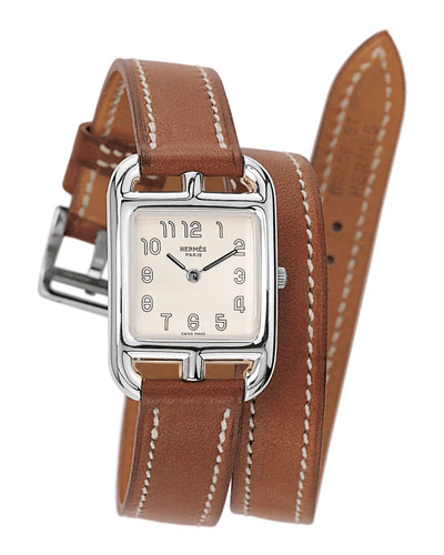 Cape Cod Watch on a Double Tour Natural Barenia Calf Strap