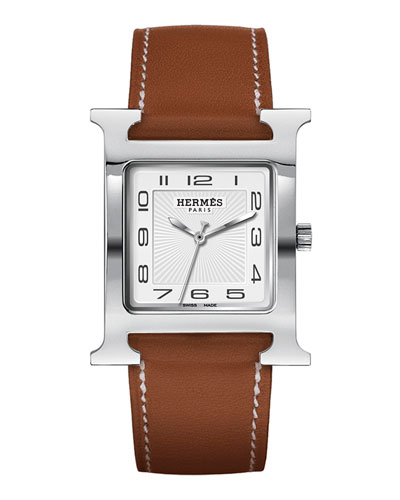 Heure H Watch on a Natural Barenia Strap