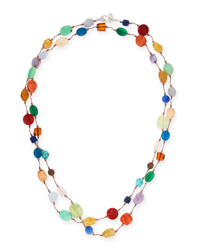 Carnival Multi-Stone Long Necklace, 53