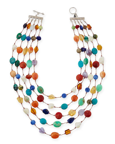 Carnival Five-Strand Multi-Stone Necklace