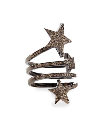Triple Star Diamond Ring, Size 7.5