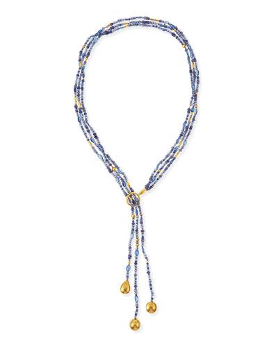 Rain Flurries Triple Strand Scarf Necklace