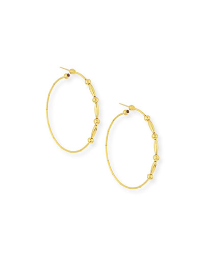 Rain 24k Gold Large Hoop Earrings