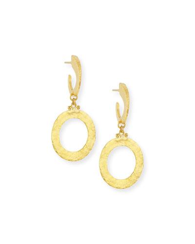 Hoopla 24k Gold Single Drop Infinity Earrings