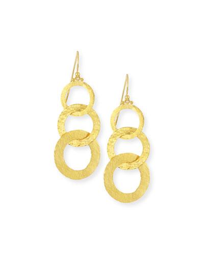 Hoopla 24k Gold Triple Drop Infinity Earrings