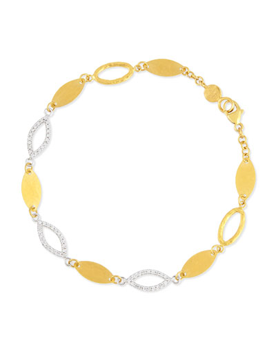 Willow 24k Gold & Diamond Bracelet