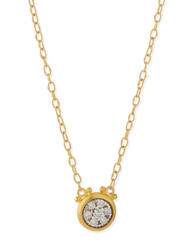 Celestial 24k Gold Diamond Pendant Necklace