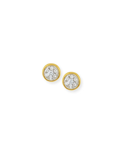 Celestial Pave Diamond Stud Earrings