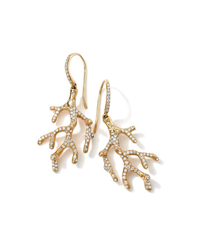Stardust 18k Branch Earrings with Diamonds